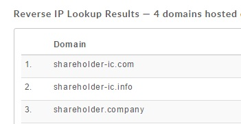 shareholder company domain