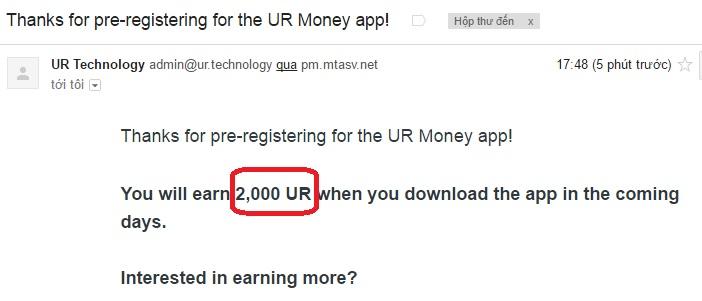 email nhận 2000 ur