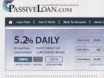 Passiveloan.com dự án chuyên nghiệp lợi nhuận 5.2% hằng ngày(Not Pay)