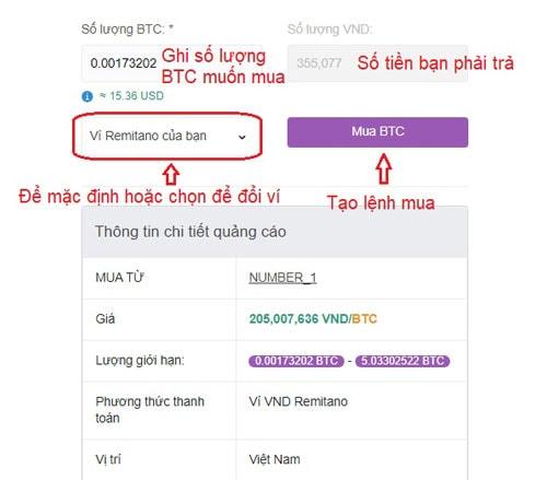 cách bán bitcoin remitano