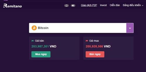 mua bitcoin ngay trên remitano