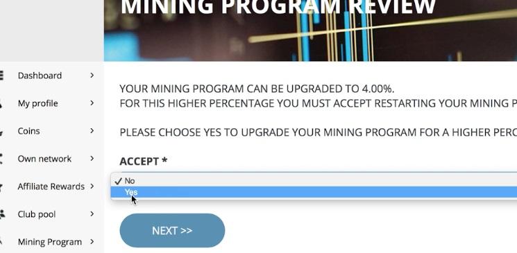 kích hoạt gói mining firstcoin club 1
