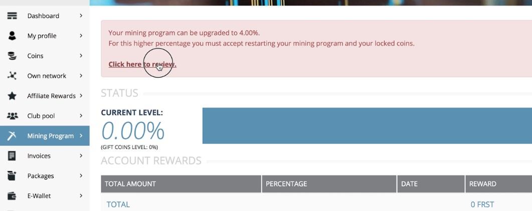 cách kích hoạt gói mining firstcoin club