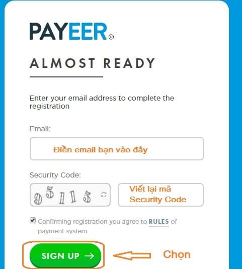đăng ký payeer