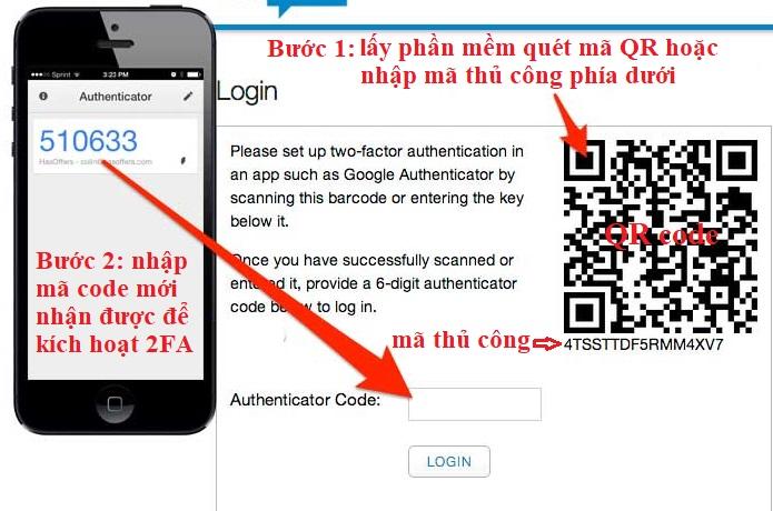 Cách scan QR code qua authy và Authenticator