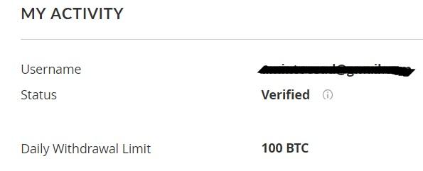 tài khoản bittrex đã verified thành công