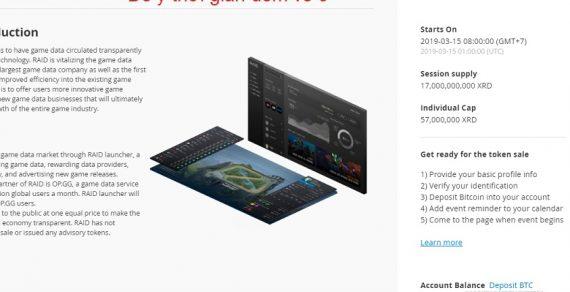 Dự án RAID môt IEO đầu tiên trên sàn Bittrex hướng dẫn cách mua