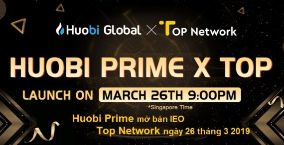 Sàn Huobi ra mắt Huobi Prime bán IEO đầu tiên vào 26 tháng 3 2019