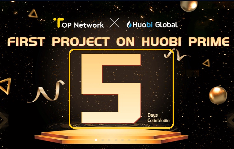 dự án Top Network bán ieo trên Huobi Prime
