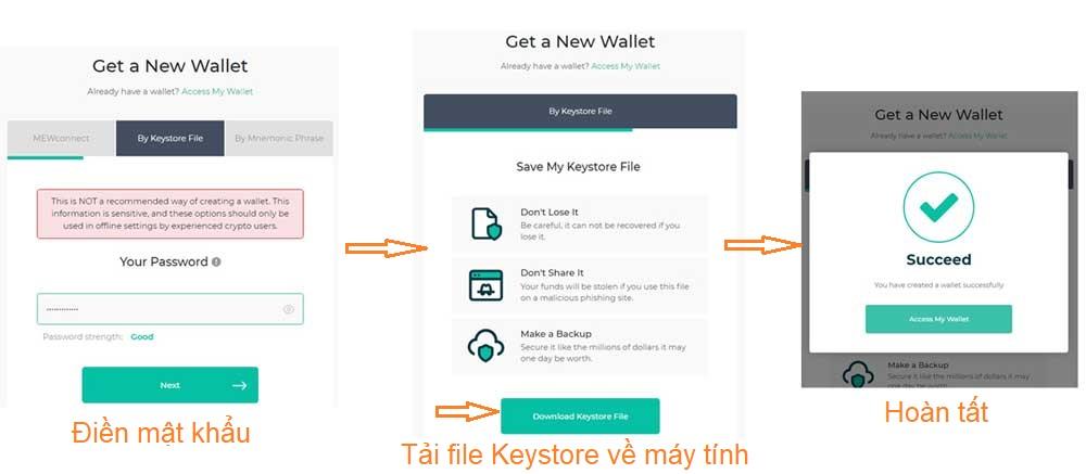 đăng ký ví myetherwallet qua keystore file 2019
