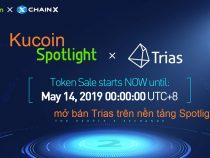 Sàn KuCoin bán ieo Trias (TRY) trên Spotlight vào ngày 14 tháng 5