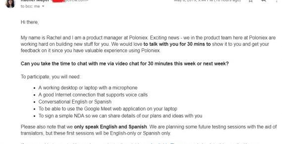 Sàn Poloniex lấy ý kiến người dùng cao cấp và tặng phần quà 50 USD Amazon Gift Card