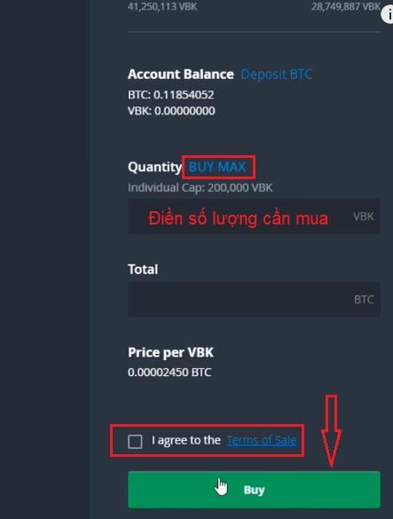 cách mua ieo stp network trên bittrex