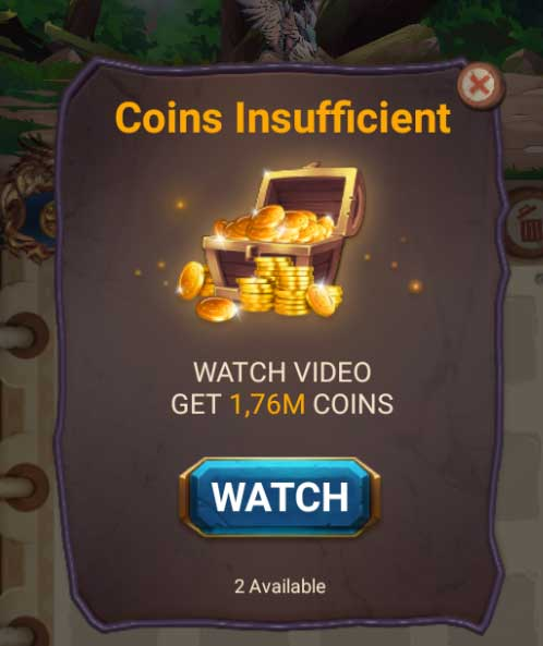 kiếm coins insufficient libradragon