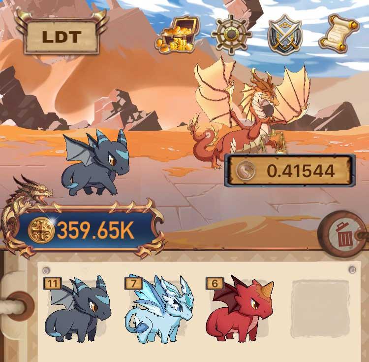LibraDragon app chơi game kiếm tiền LDT (Libra Dragon Token)