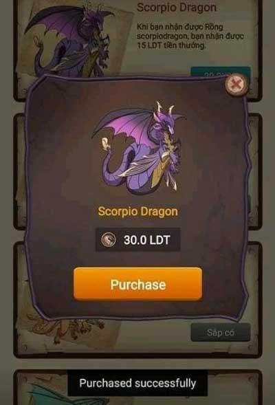 mua rồng scorpio dragon