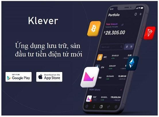 klever ứng dụng lưu trữ, sàn spot exchange bitcoin