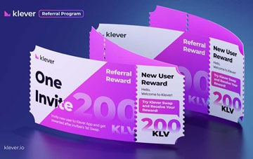 Ví Klever airdrop 200 KLV cho thành viên sử dụng
