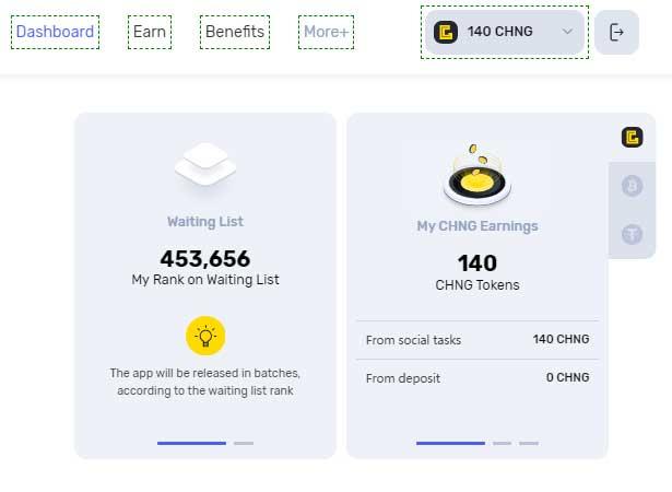 Dự án xịn Chainge Finance nhận airdrop 200 CHNG token