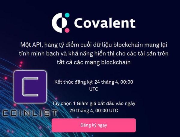covalent bán trên coinlist