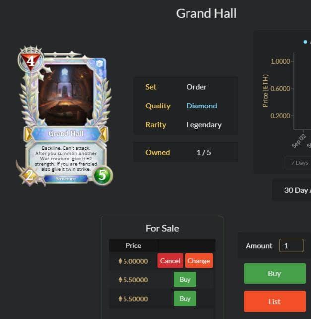 cách chơi game Gods Unchained trên Coinlist